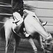 Cowboy Riding Bucking Horse  Print by Garry Gay