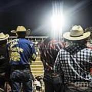 Cowboys At Rodeo Print by John Greim