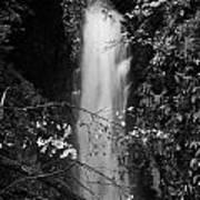 Cranny Falls Waterfall Carnlough County Antrim Northern Ireland Uk Print by Joe Fox