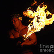 Creating With Fire Print by Bob Christopher