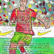 Cristiano Ronaldo Print by Jera Sky