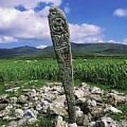 Cross Slab, Dingle Peninsula, Co Kerry Print by The Irish Image Collection