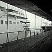 Cruise Ships Print by Dean Harte