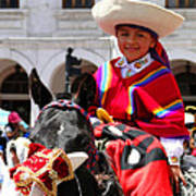 Cuenca Kids 62 Print by Al Bourassa
