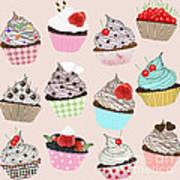 Cupcake  Print by Setsiri Silapasuwanchai