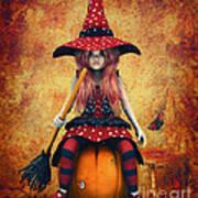 Cutest Little Witch Print by Jutta Maria Pusl