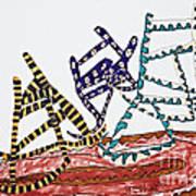 Dancing Chairs Print by Stephanie Ward