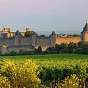 Dawn In Carcassonne Print by Brian Jannsen