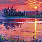 Daybreak Reflection Print by David Lloyd Glover