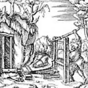 De Re Metallica, Bellows, 16th Century Print by Science Source