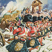 Defence Of Corunna Print by C L Doughty