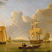 Deptford On Thames With A Distant View Of Greenwich Print by John of Hull Ward