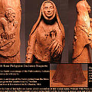 Details Of Symbols On Saint Rose Philippine Duchesne Sculpture. Print by Adam Long