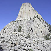 Devils Tower National Monument, Wyoming Print by Richard Roscoe