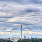 Digital Liquid - Clouds Over Washington Dc Print by Metro DC Photography