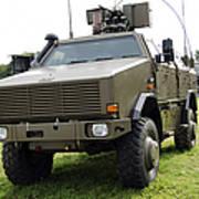Dingo II Vehicle Of The Belgian Army Print by Luc De Jaeger