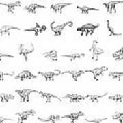 Dinosaur Collection Print by Karl Addison