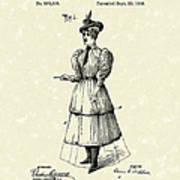 Dockham Bicycle Skirt 1896 Patent Art  Print by Prior Art Design