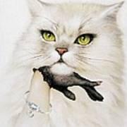 Domestic Cat, Conceptual Image Print by Smetek