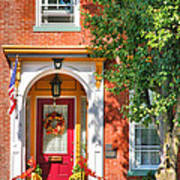 Door In Historic District I Print by Steven Ainsworth