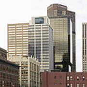 Downtown Office Buildings Print by Roberto Westbrook