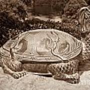 Dragon Turtle Figure Print by Yurix Sardinelly