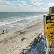 Dunes Rebuilding Keep Off Grass And Dune Area Cape Cod Print by Matt Suess