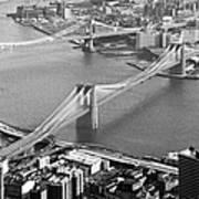 East River Bridges New York Print by Gary Eason
