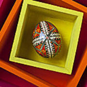 Easter Egg In Box Print by Garry Gay
