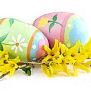 Easter Eggs Print by Elena Elisseeva