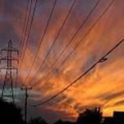 Electric Sunset Print by Nina Fosdick