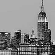 Empire State Bw Print by Susan Candelario