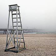 Empty Lifeguard Chair Print by Skip Nall