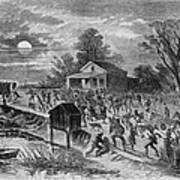 Enslaved African-americans Running Print by Everett