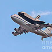 Enterprise Space Shuttle  Print by Susan Candelario