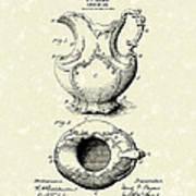 Ewer Or Jug Design 1900 Patent Art Print by Prior Art Design