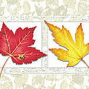 Fall Leaf Panel Print by JQ Licensing