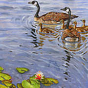 Family Outing Print by Jeff Brimley