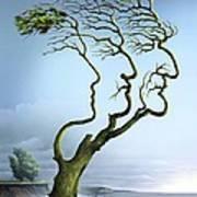 Family Tree, Conceptual Artwork Print by Smetek