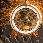 Fancy Pocketwatch On Gears Print by Garry Gay