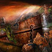 Fantasy - Ship Wrecked Print by Mike Savad
