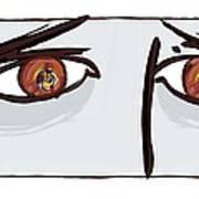 Fearful Eyes, Artwork Print by Paul Brown