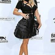 Fergie Wearing A Herve Leger By Max Print by Everett
