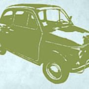 Fiat 500 Print by Naxart Studio
