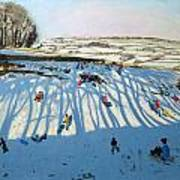 Fields Of Shadows Print by Andrew Macara