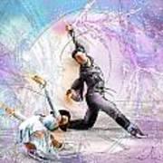 Figure Skating 02 Print by Miki De Goodaboom