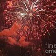 Fireworks Print by Juan  Silva