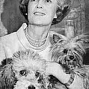 First Lady Patricia Nixon With Pet Print by Everett