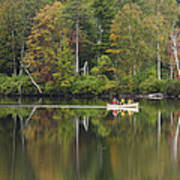 Fish Creek Pond In Adirondack Park - New York Print by Brendan Reals