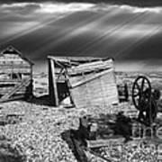 Fishing Boat Graveyard 4 Print by Meirion Matthias